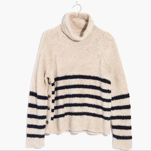 Madewell Mariner Stripe Turtleneck Sweater - Small